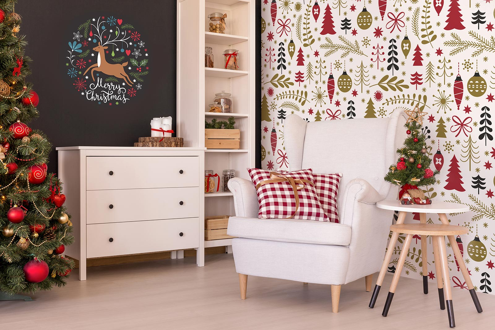 Add Holiday Charm To Your Walls With Christmas Murals