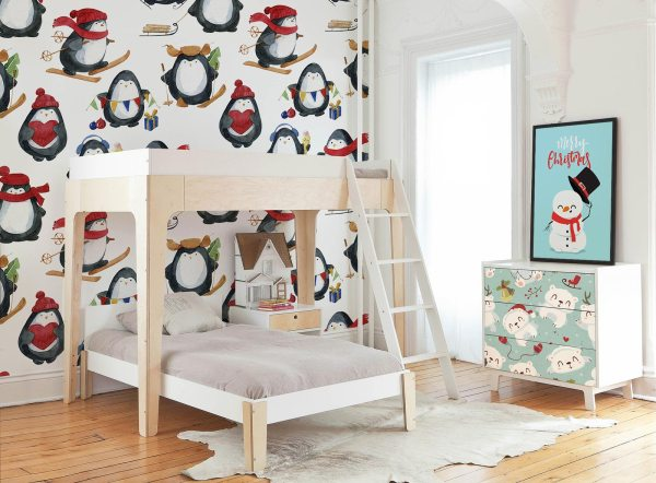 Add Holiday Charm Walls With Christmas Murals