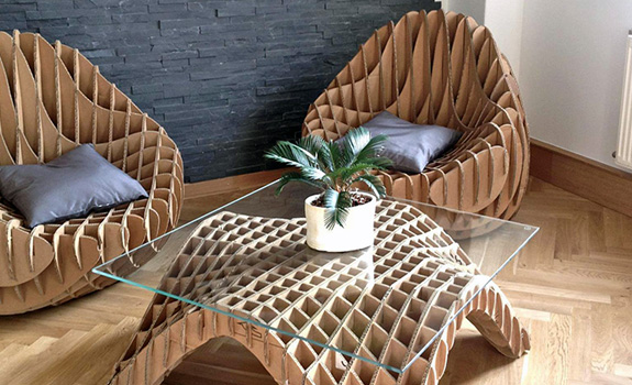 decoration ideas for living room table transitional rooms unique furniture made of recycled cardboard – adorable home