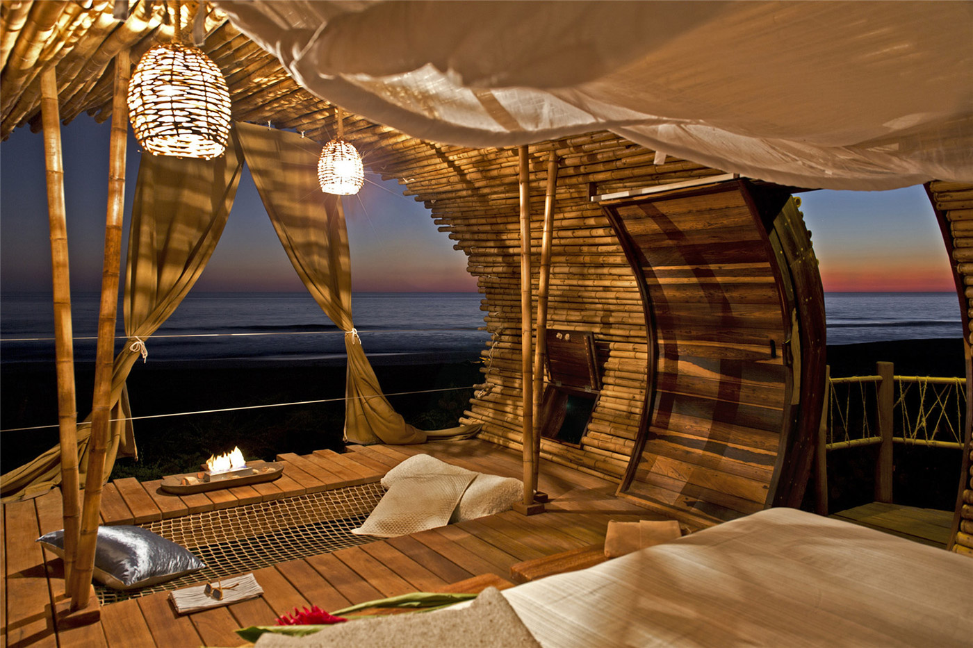 Fantasy Bamboo Cabin on the Beach  Adorable Home