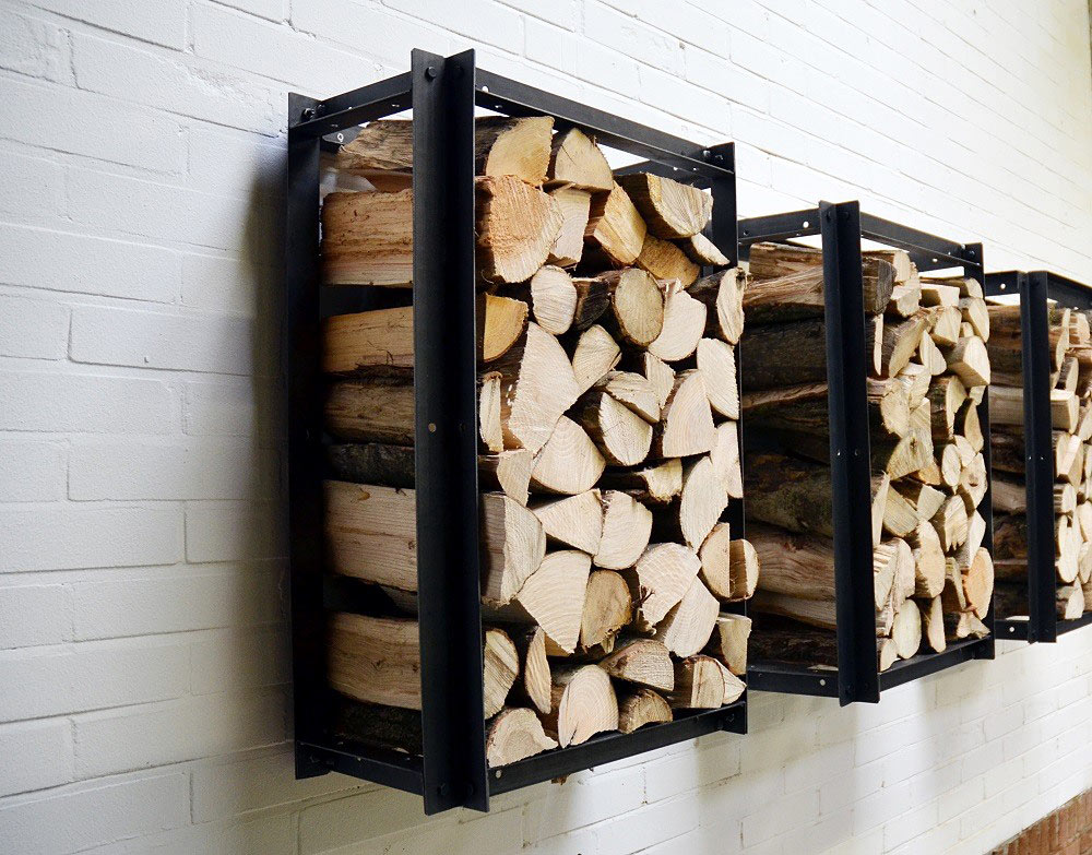 A Solid Iron Firewood Rack  Adorable Home