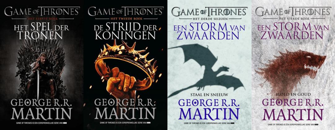 Volgorde van de Game of Thrones boeken