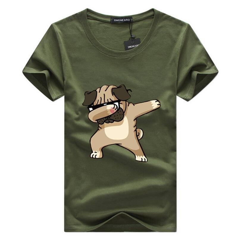 Men's Dog Printed T-Shirt For Pet Lovers T-shirts & Sweatshirts