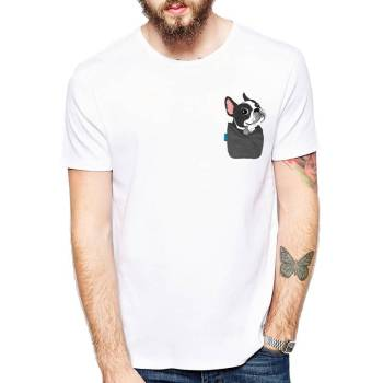 Dog in a Pocket Print T-Shirt For Pet Lovers T-shirts & Sweatshirts