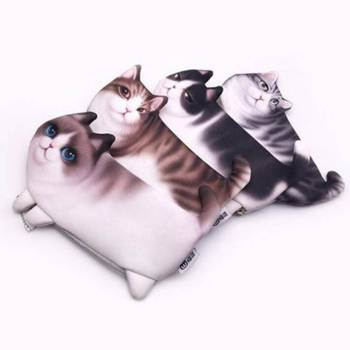 Cat Shaped Pencil Cases For Pet Lovers Office & School Supplies
