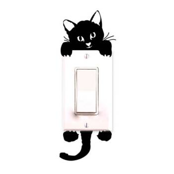 Cute Cat Light Switch Sticker For Pet Lovers Home Decor