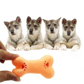 Rubber Squeaky Bone for Dog Dogs Toys