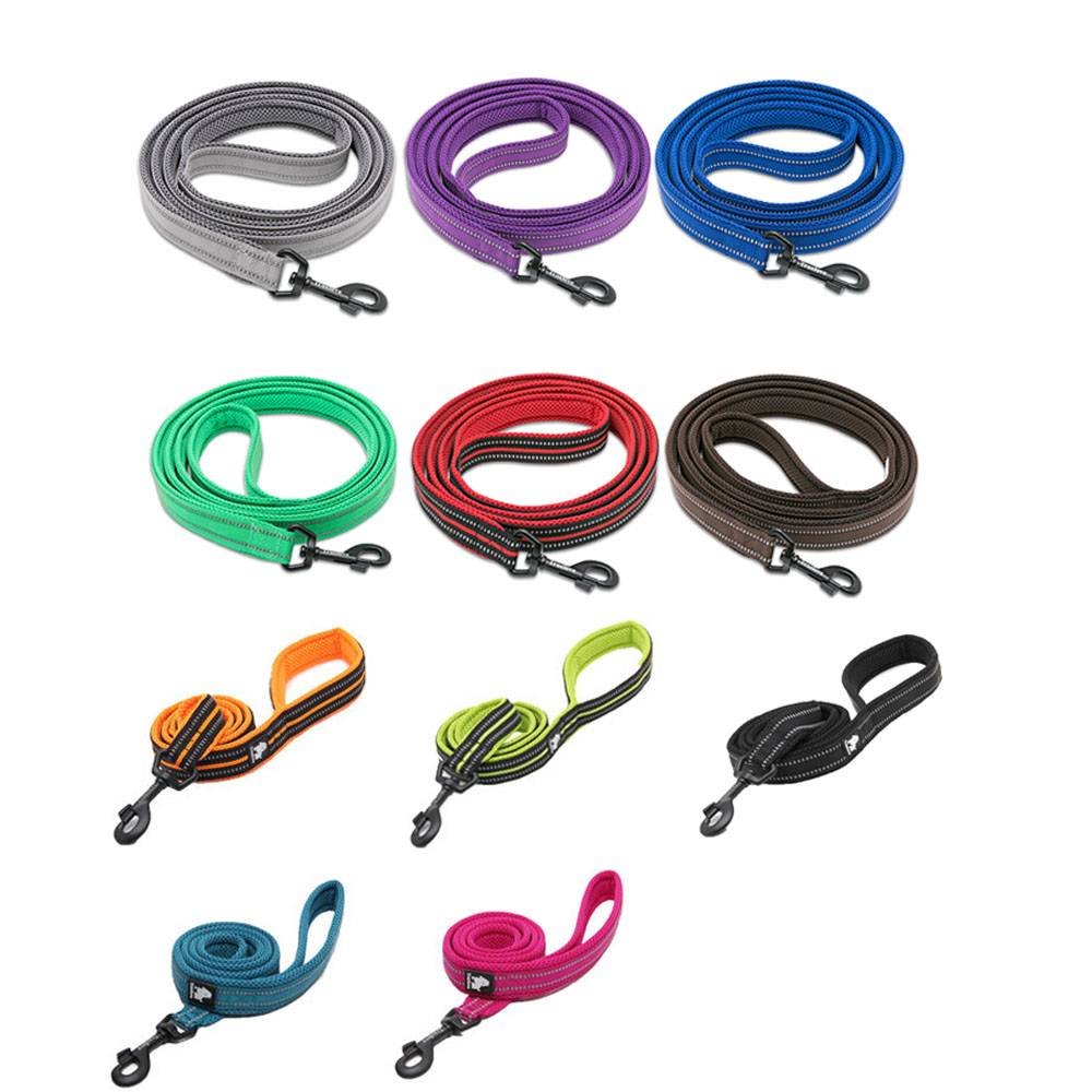 Soft Nylon Dog Leash with Reflective Stripes Collars, Harnesses & Leashes Dogs