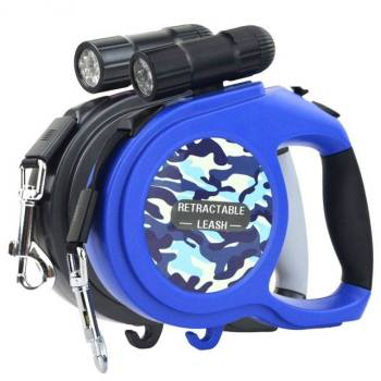 Multifunctional Automatic Retractable Dog's Leash with LED Flashlight Collars, Harnesses & Leashes Dogs