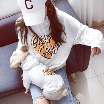 Dog and Owner's Matching Hooded Sweatshirt Dogs Matching Owner Clothes