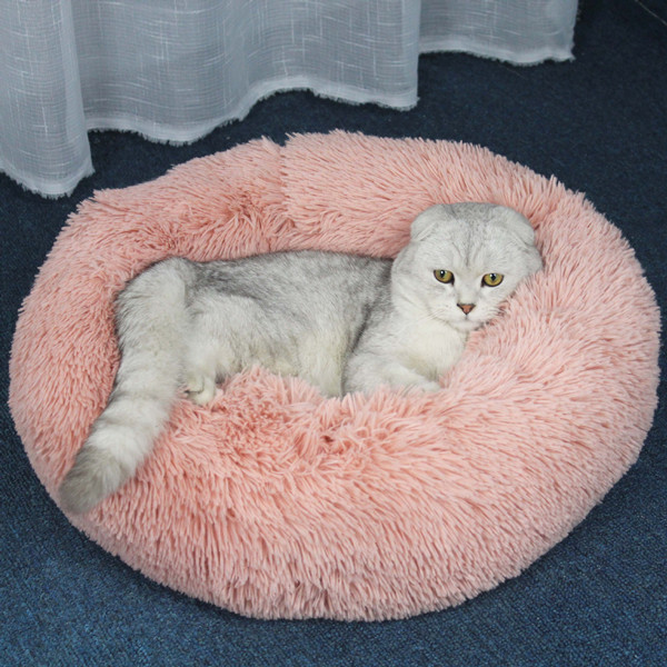 Calming Pet Bed for Cat or Small Dog Beds Beds Cats Dogs Color: Pink Size: 100cm