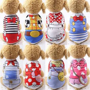 Cartoon Dog Clothes Clothing For Dogs
