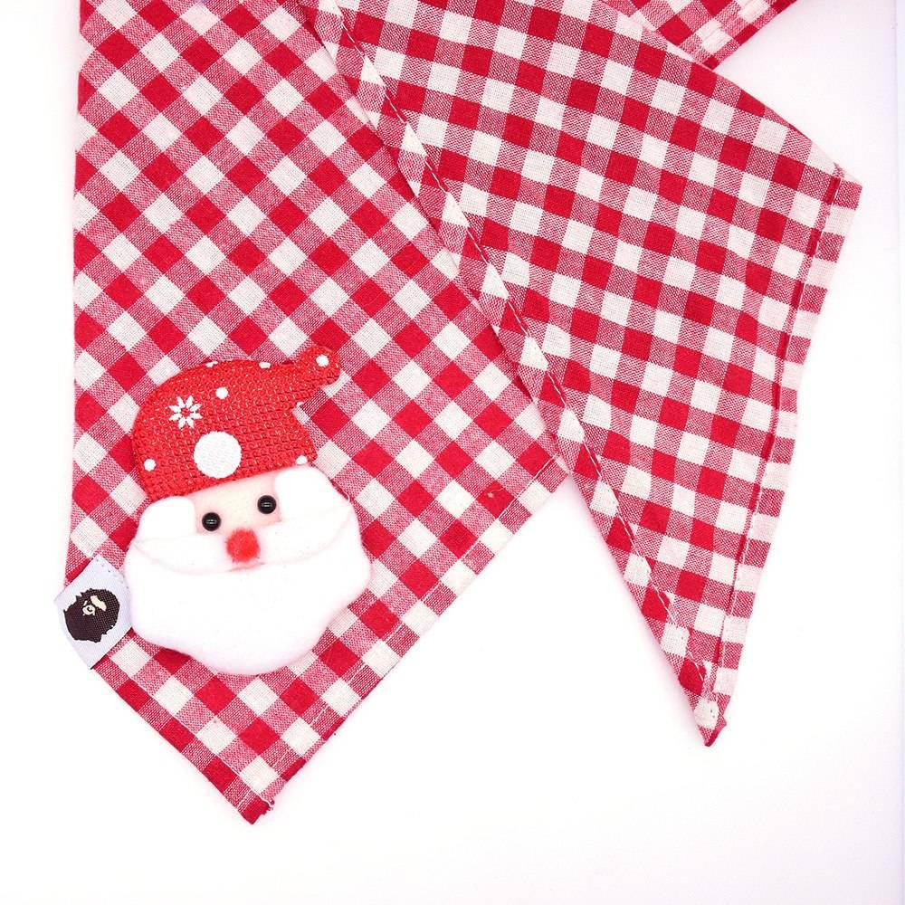 Checkered Christmas Dog Scarf Pet Christmas Costume and Toy
