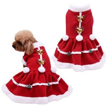Red Christmas Dress for Dogs