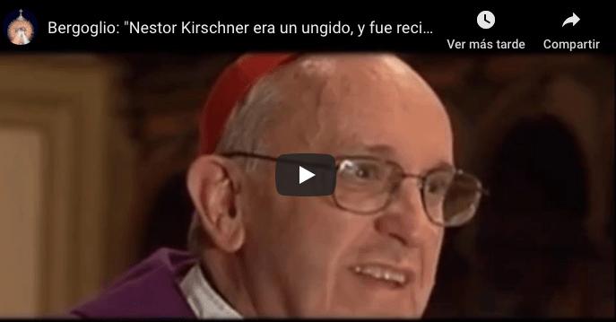 """Vídeo: """"Nestor Kirschner era un ungido, y fue recibido por las manos de Dios"""""""