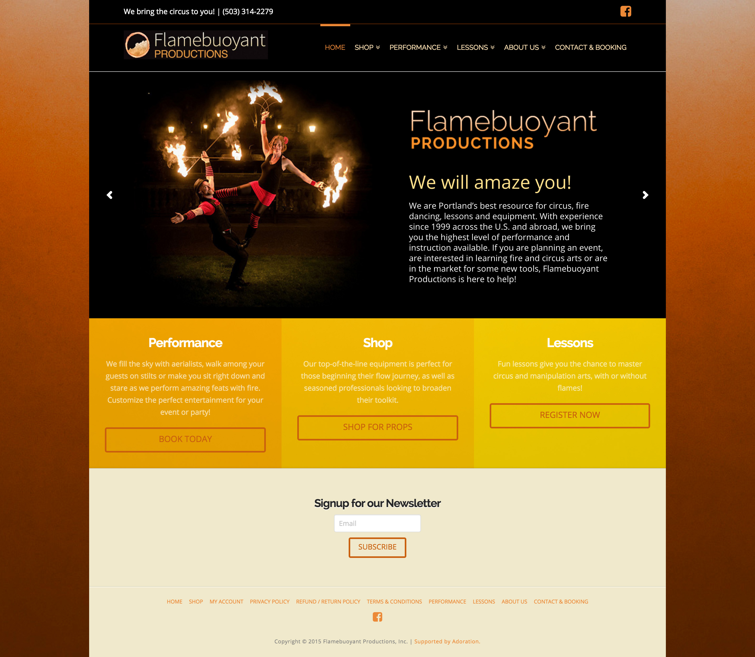 Flamebuoyant Productions Home Page