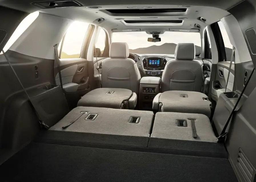2020 Chevy Traverse Interior Capacity