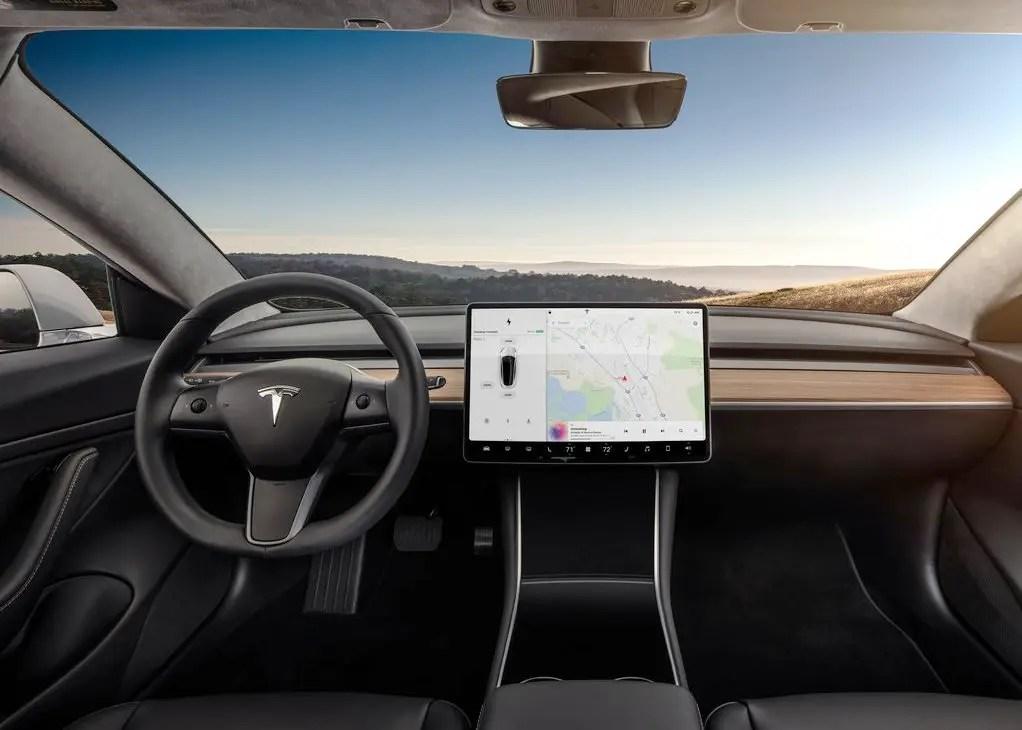 2020 Tesla Model 3 Interior Dashboard