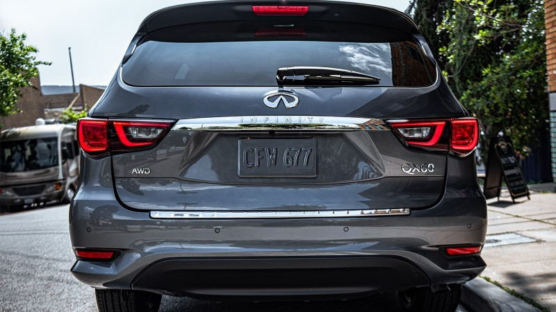 2021 Infiniti QX60 rear Angle Tail Light Changes