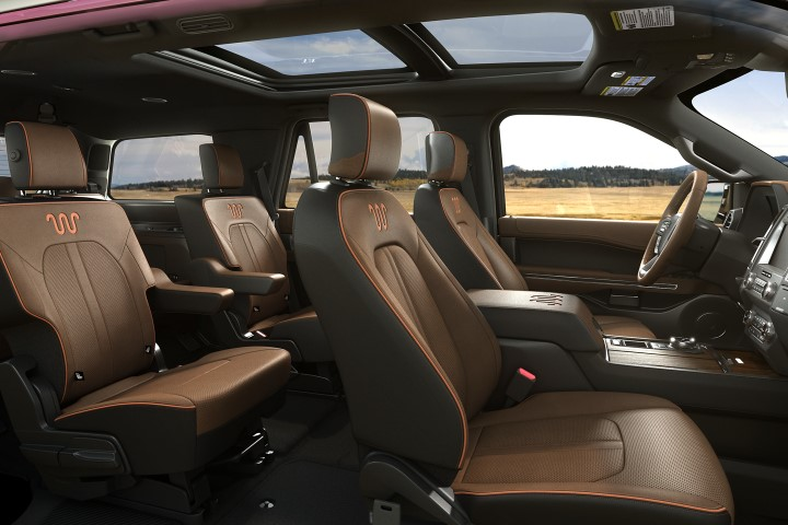 2022 Ford Expedition Interior With Leather and Captain Seat Available