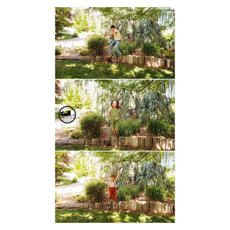 Sibling fun in the gardens, photos by Adored by Meghan Pasco WA