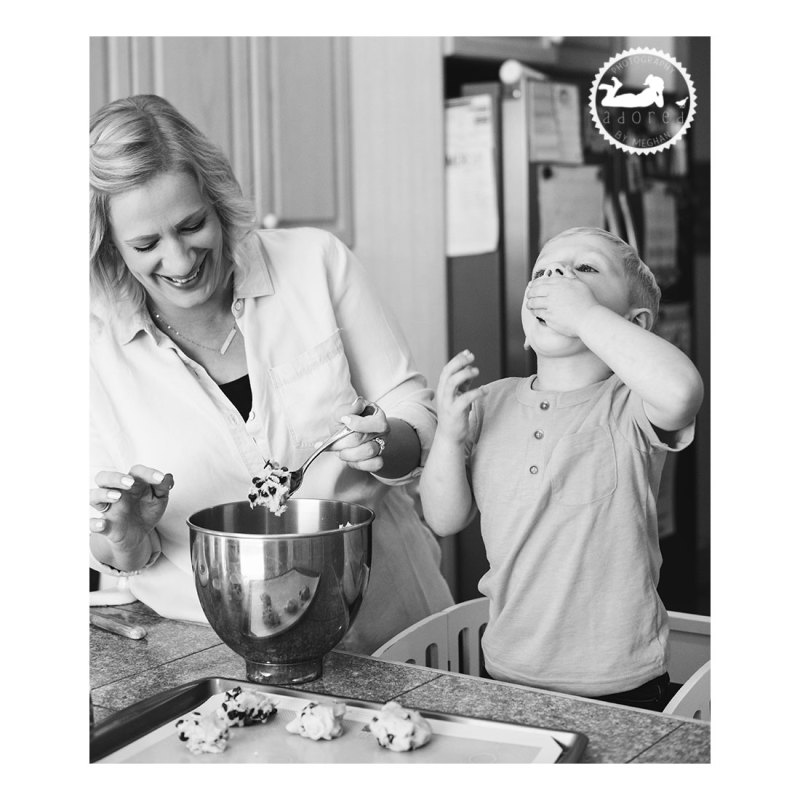 Test tasting cookie dough with Mom. Adored by Meghan, Kennewick, WA photographer.