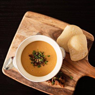 Chorizo Cannellini  and Potato Creamy Soup