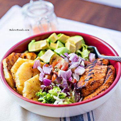 Peri Peri Warm Chicken Salad with Lime Dressing