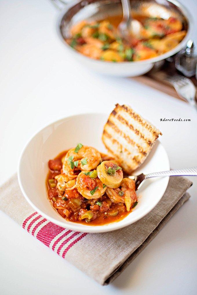 One Pot Shrimp, Tomato and Potato Stew