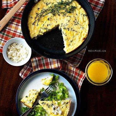 Zucchini and Corn Baked Frittata