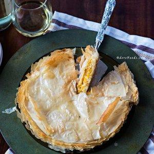 Greek Pumpkin and Feta Cheese Pie (Kolokithopita)