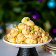 Cream Puff Tower (Croquembouche) with Dulce de Leche Cream