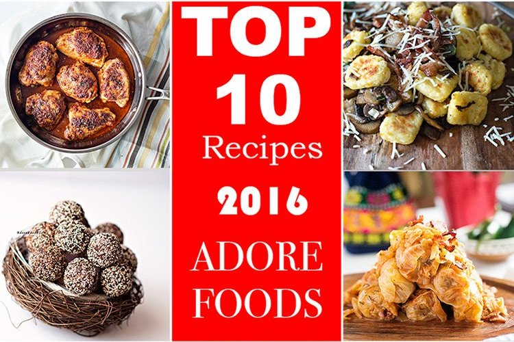 Top 10 Recipes from 2016