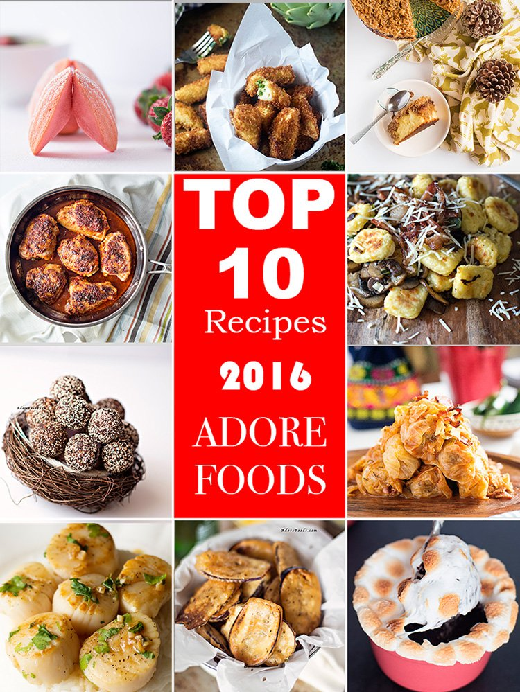 Top 10 Recipes from 2016 Adore Foods