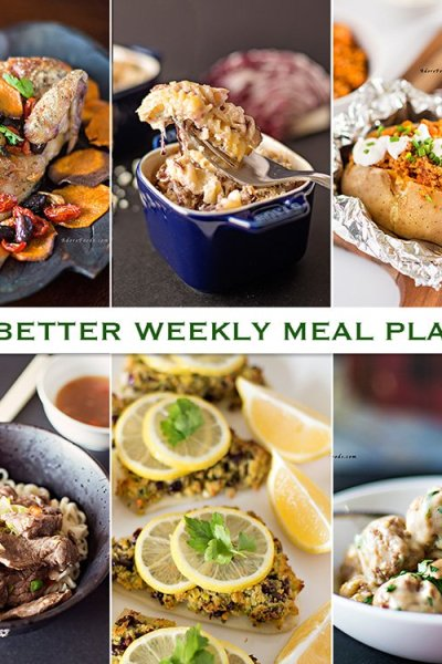 Eat Better Weekly Meal Plan #3