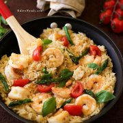 One Pan Shrimp and Basil Orzo/ Risoni Pasta