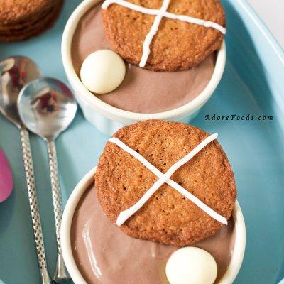 Easter Hot Cross Bun Cookies & Chocolate Pots