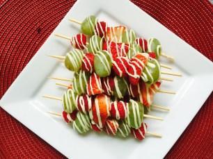 Fruit Kabobs Served