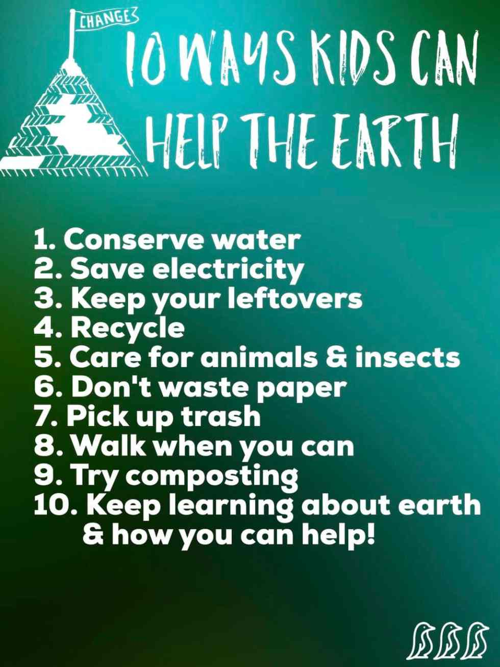 10 ways kids can help the earth