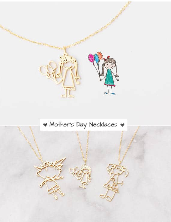 kid's drawing necklace