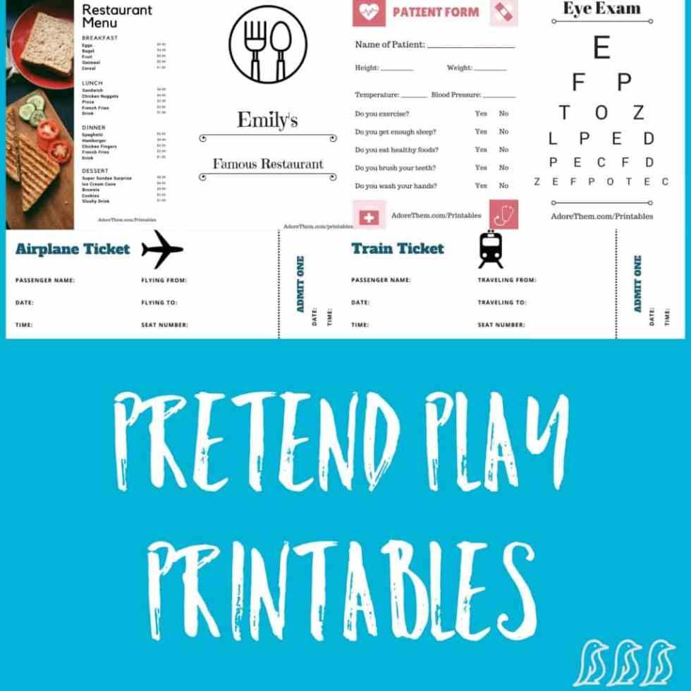 Pretend Play Printables