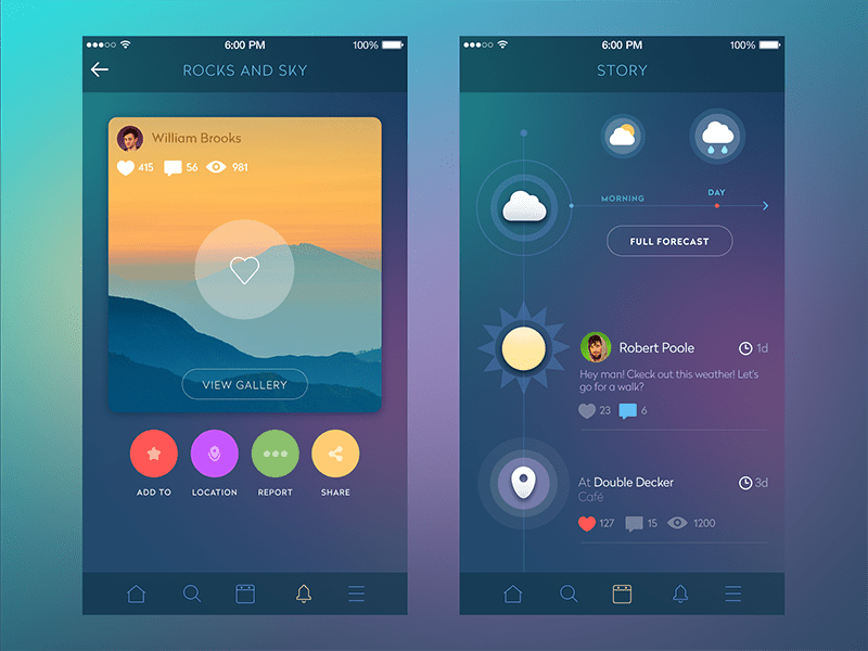 Mobile App Design 14 Trendy Color Schemes  Adoriasoft