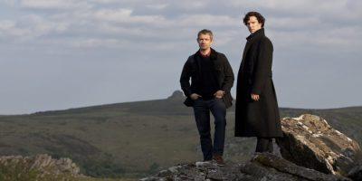 Szenenbild aus SHERLOCK - 2. Staffel - Martin Freeman und Benedict Cumberbatch - © Polyband Medien