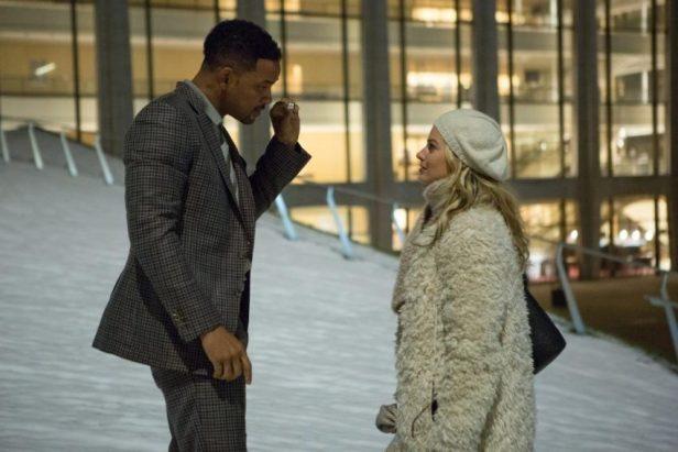 Nicky (Will Smith) gibt Jess (Margot Robbie) einen Crashkurs im Stehlen - © Warner Bros. Germany