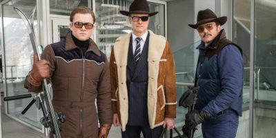 Eggsy (Taron Egerton), Harry (Colin Firth) und Agent Whiskey (Pedro Pascal) am Lift - Filmstill aus KINGSMAN: THE GOLDEN CIRCLE (2017) - © 20th Century Fox