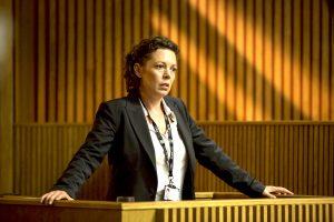 Filmstill aus der zweiten Staffel BROADCHURCH - Ellie Miller (Olivia Colman) vor Gericht - © ITV