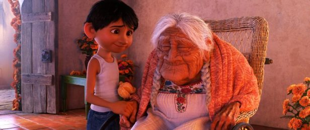 """COCO - In Disney•Pixar's""""Coco,"""" Miguel (voice of Anthony Gonzalez) has a very special relationship with his great-great-grandmother, Mamá Coco (voice of Ana Ofelia Murguía). Directed by Lee Unkrich and co-directed by Adrian Molina, Disney•Pixar's""""Coco,"""" opens in U.S. theaters on Nov. 22, 2017. ©2017 Disney•Pixar. All Rights Reserved."""