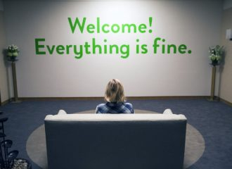 """Header Staffel 1 The good Place - """"Everything is fine"""""""