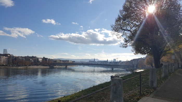 Am Rheinufer in Basel - November 2018 - Privates Foto