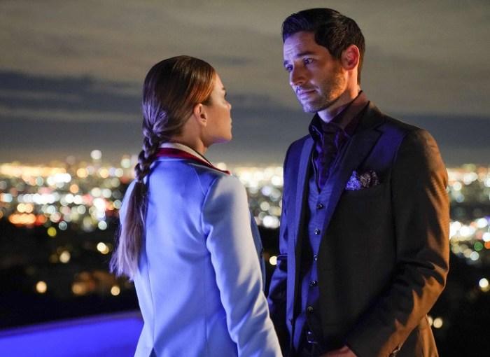 Szenenbild aus LUCIFER - Staffel 3 - Chloe (Lauren German) und Lucifer (Tom Ellis) - © Fox